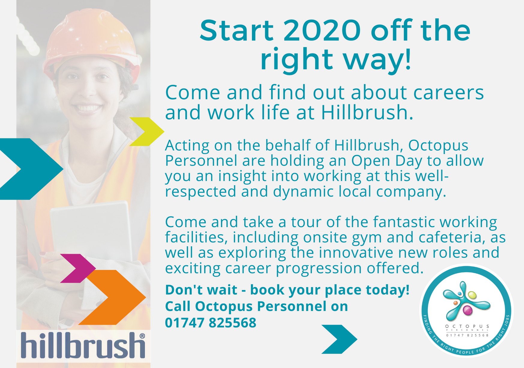 Rear of Marketing Car 28th November 2019 - Octopus Personnel Recruitment Day at Hillbrush