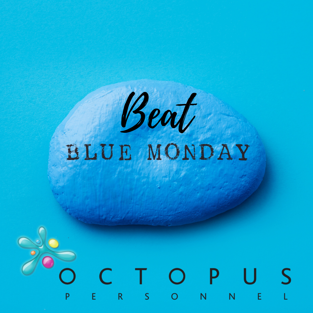 Image of a Blue Stone saying Beat Blue Monday - Forget Blue Monday: Get Mindful!