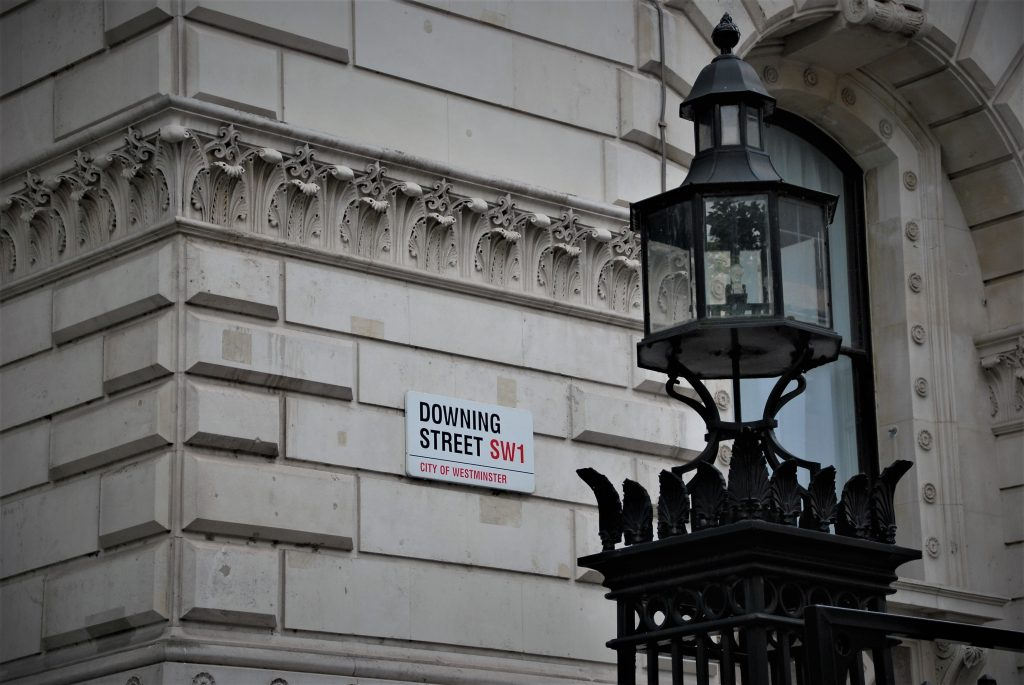 Image of the Sign of 10 Downing Street
