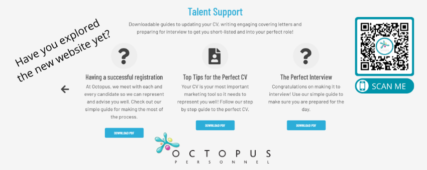 Explore the Candidate Support on the Octopus Personnel Website