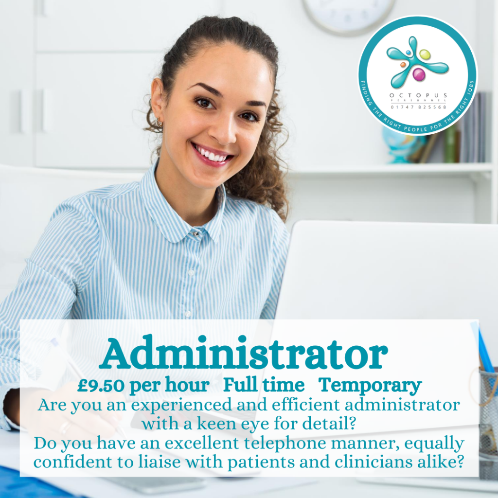 Administrator Octopus Personnel Job Advert