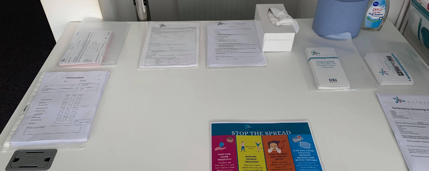 An image of desk with paperwork - COVID19 Procedures - Staying safe in the office with Octopus Personnel