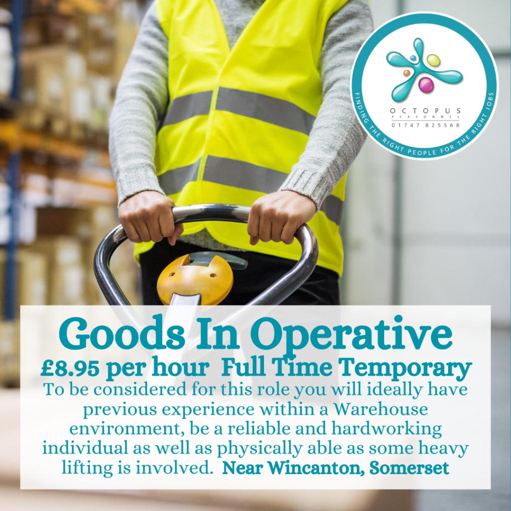Goods In Operative Octopus Personnel Job Advert