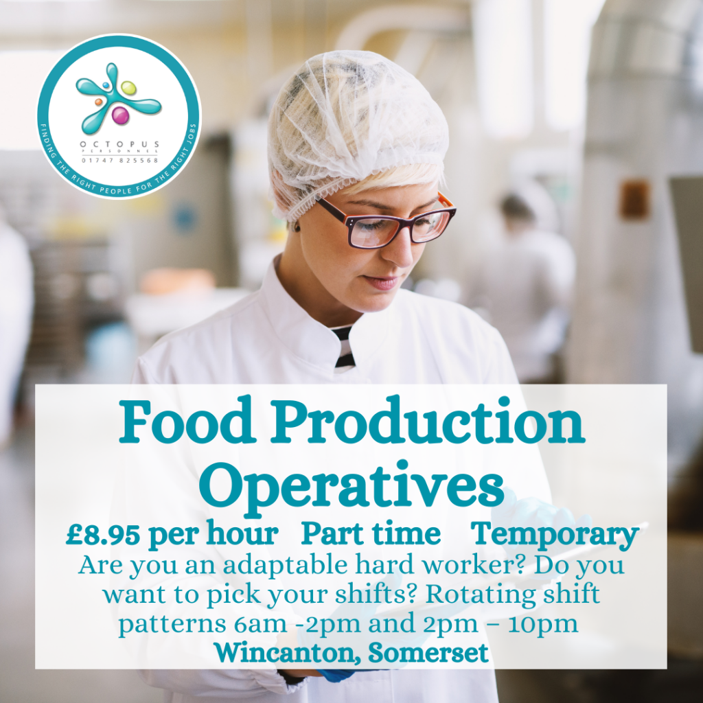 Food Production Operatives Octopus Personnel Job Advert