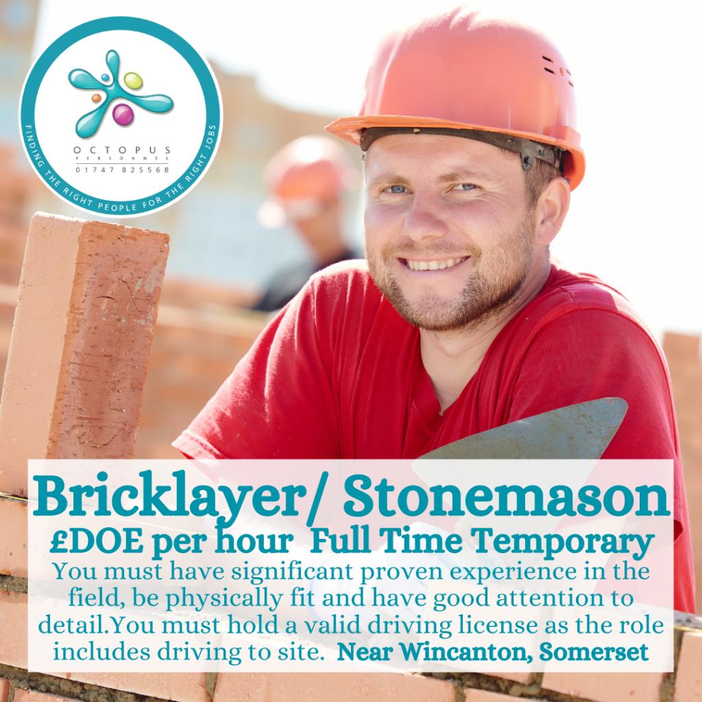 Bricklayer Stonemason Octopus Personnel Job Advert