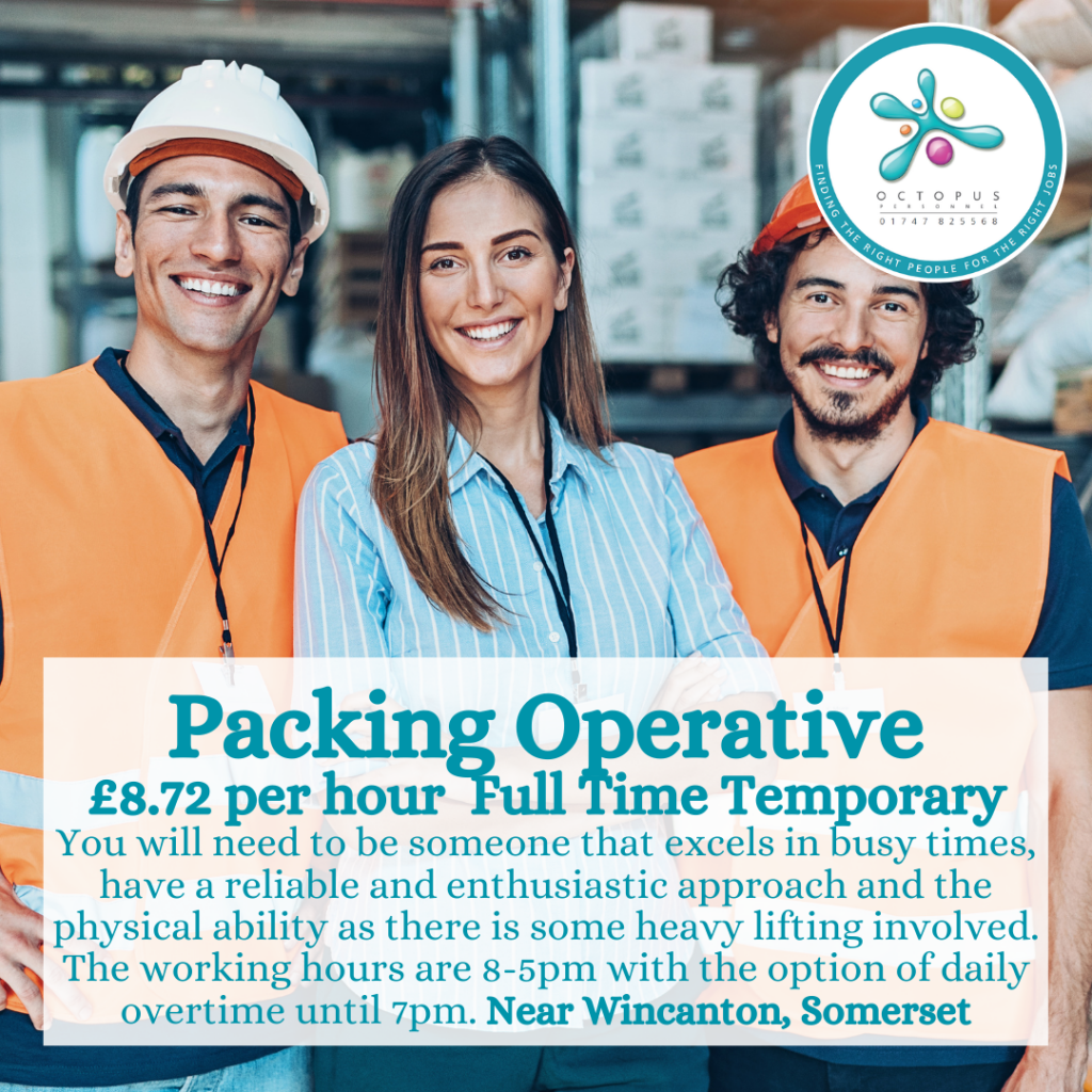 Packing Operative Octopus Personnel Job Advert