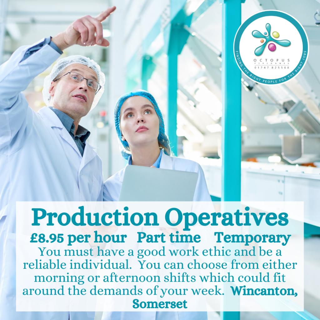 Production Operatives Octopus Personnel Job Advert